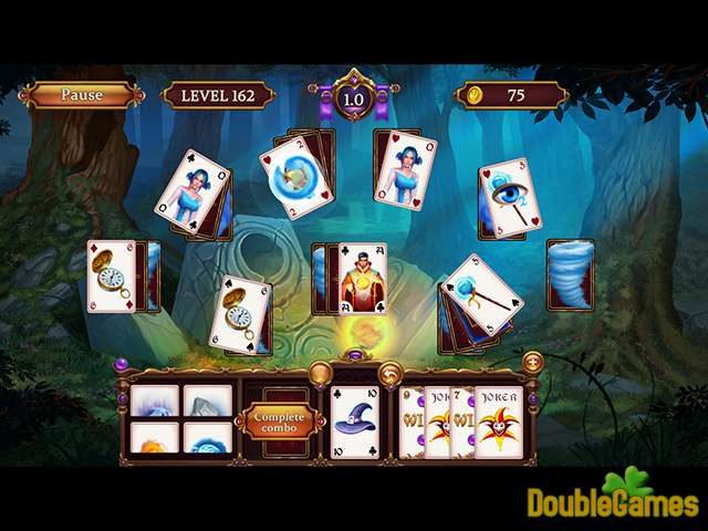 Gratis download Solitaire: Elemental Wizards screenshot 1