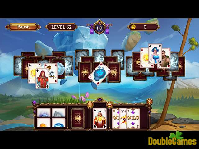Gratis download Solitaire: Elemental Wizards screenshot 2